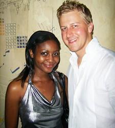 Tafadzwa Mukwashi and Gareth Cliff